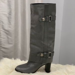 Coach Sage knee high calf leather boots size 10B
